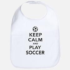 Keep calm and play Soccer Bib