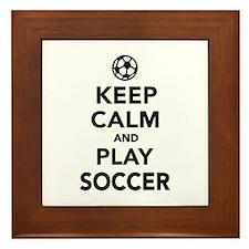 Keep calm and play Soccer Framed Tile
