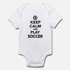 Keep calm and play Soccer Infant Bodysuit