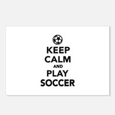 Keep calm and play Soccer Postcards (Package of 8)