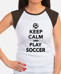 Keep calm and play Soccer Women's Cap Sleeve T-Shi