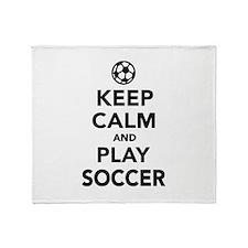 Keep calm and play Soccer Throw Blanket