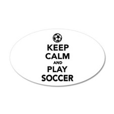 Keep calm and play Soccer Wall Decal