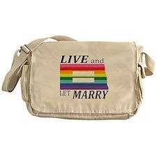 North Dakota live marry blk Messenger Bag