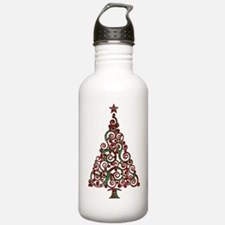 Christmas Plaid Tree 1 Water Bottle