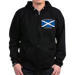 Uddingston Scotland Zip Hoodie (dark)