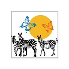 Hendrix - Little Wing (Butterflies and Zebras) Squ