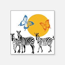 Hendrix - Little Wing (Butterflies and Zebras) Squ