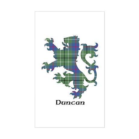 Lion - Duncan Sticker (Rectangle)
