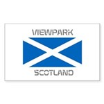 Viewpark Scotland Sticker (Rectangle 50 pk)
