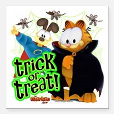 Garfield Show Trick or Treat Square Car Magnet 3""