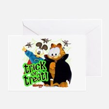 Garfield Show Trick Or Treat Card Greeting Cards