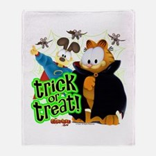 Garfield Show Trick or Treat Throw Blanket