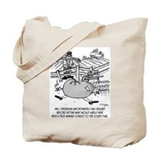 Crushed by Prize Winning Tomato Tote Bag