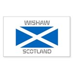 Wishaw Scotland Sticker (Rectangle 50 pk)