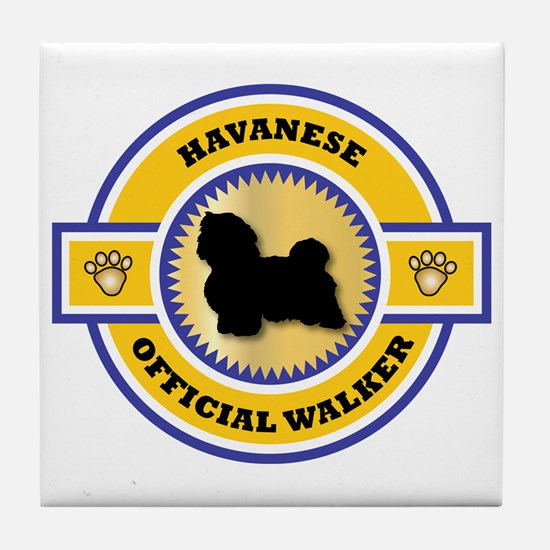 Havanese Walker Tile Coaster