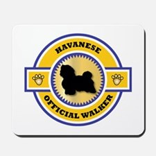 Havanese Walker Mousepad