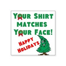 Shirt Matches Your Face Sticker