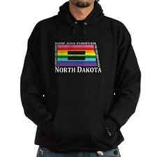North Dakota motto equality wht Hoodie