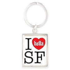 I Hella Love SF Portrait Keychain