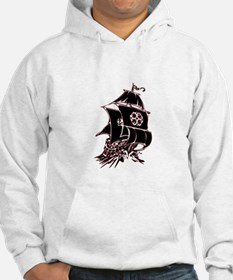 Black Pirate Ship Hoodie