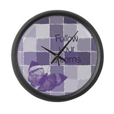Follow Your Dreams Butterfly Large Wall Clock