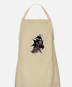 Black Pirate Ship Apron
