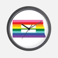 North Dakota equality Wall Clock