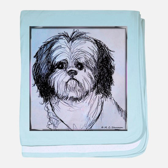 Puppy, dog, animal, pet art! baby blanket