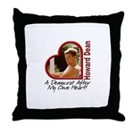 Young Howard Dean Throw Pillow