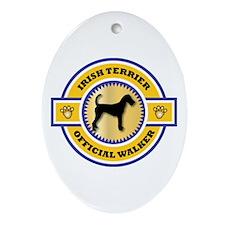 Terrier Walker Oval Ornament