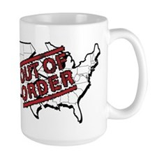 government shutdown white Mugs