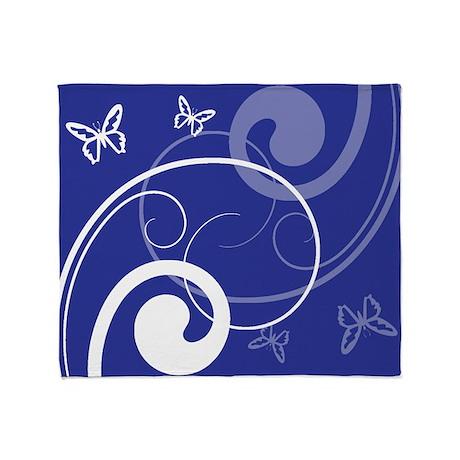 Floral Swirls w/ Butterflies Throw Blanket