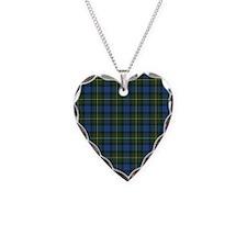 Tartan - MacLaren Necklace Heart Charm