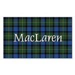 Tartan - MacLaren Sticker (Rectangle)