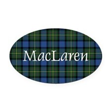 Tartan - MacLaren Oval Car Magnet