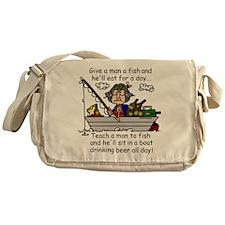 Teach a Man to Fish Messenger Bag