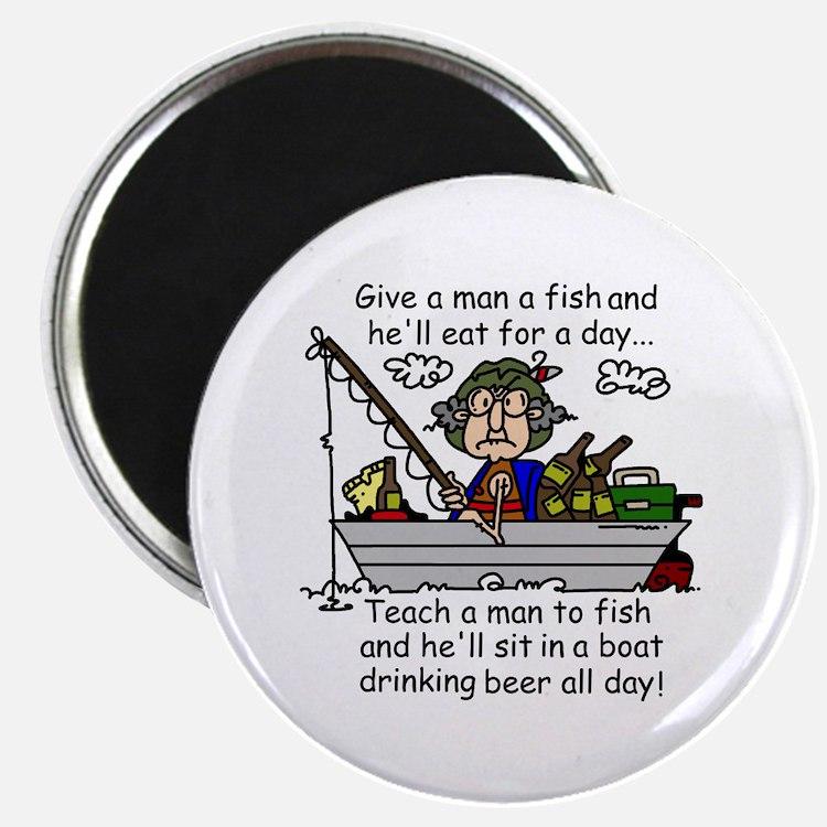 Teach a Man to Fish Magnet