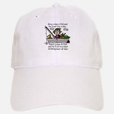Teach a Man to Fish Baseball Baseball Cap