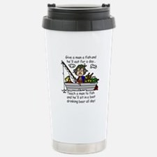 Teach a Man to Fish Travel Mug