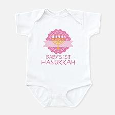 Baby's 1st Hanukkah Girls Infant Bodysuit
