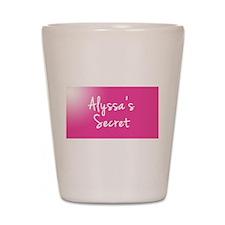 Alyssas Secret Shot Glass