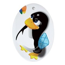 linux Oval Ornament
