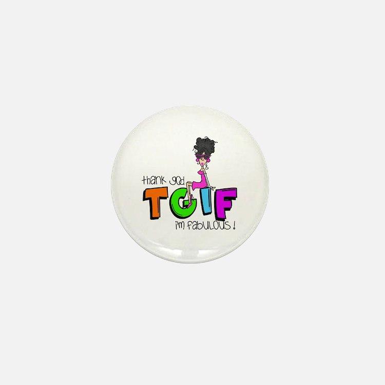 Thank God I'm Fabulous Mini Button (10 pack)