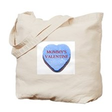 Blue Candy Heart - Mommy's Va Tote Bag