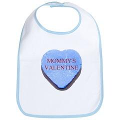 Blue Candy Heart - Mommy's Va Bib