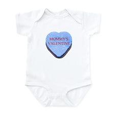 Blue Candy Heart - Mommy's Va Infant Bodysuit