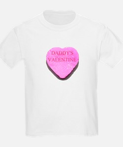 Candy Heart - Daddy's Valenti Kids T-Shirt