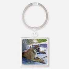 COUGAR LOUNGES Square Keychain