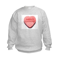 Red Candy Heart - Daddy's Val Sweatshirt